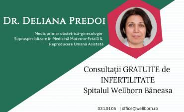 Dr. Deliana Predoi – consultații gratuite de infertilitate în Spitalul Băneasa