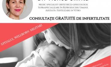 Dr. Viorica Chirița, medic ce deține ultraspecializare în medicina reproductivă – consultații gratuite de infertilitate pentru cuplurile din România